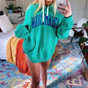 [nwot] green champion oversized hoodie